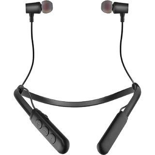 Raptech Bluetooth Wireless Neckband Bluetooth Headset with Mic  (Black, In the Ear)
