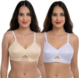 Body Best Atractive Multi Color Back Closed Non Padded Regular Fiting Strap Adjestable Bra Combo Of 2 Pcs