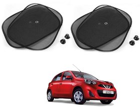 Auto Addict Black Color Chipokoo With Suction Cup Car Window Side Sunshade Curtains Set Of 4 Pcs For Nissan Active
