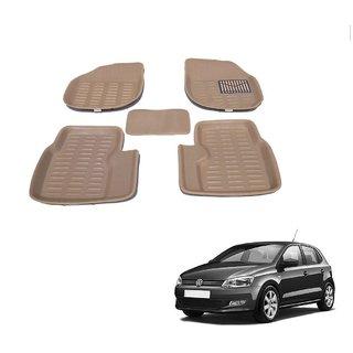 Auto Addict Car 3D Mats Foot mat Beige Color for Volkswagen Polo