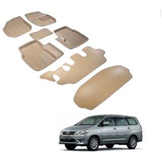 Auto Addict Car 3D Mats Foot mat Beige Color for Toyota Innova