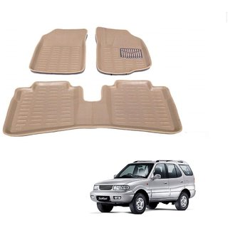 Auto Addict Car 3D Mats Foot mat Beige Color for Tata Safari Dicor