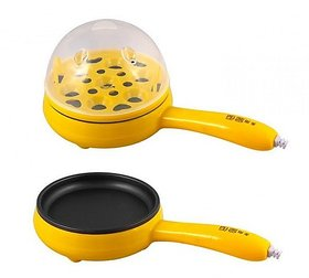 RE FOX Frying Pan with Egg Poacher Boiler and Omlette Maker Eelectric