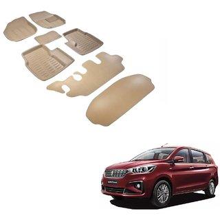 Auto Addict Car 3D Mats Foot mat Beige Color for Maruti Suzuki Ertiga New (2019-Present)