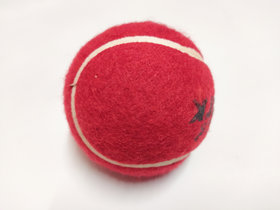 Kalindri Sports Heavy Rubber Cricket Tennis Ball Red - Pack of 3