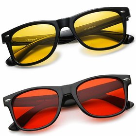 Ivonne Gradient Mirrored Uv Protection Others Night Vision Riding Glasses