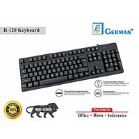 r3 german r 120 Wired USB Keyboard for Desktop  Black