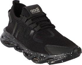 Aadi Men's Black Mesh Running Sport Shoes