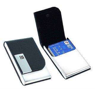 Samm and Moody Stainless Steel Black 1 Flip ATM/Visting Card Holder