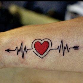 Ordershock Love Heart Arrow Men and Women Waterproof Temporary Body Tattoo