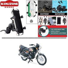KunjZone X-Grip Premium Bike Mobile Charger  Phone Holder Version 2 For TVS Max 4R