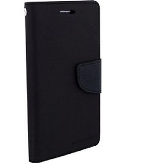 Brand Fuson Mercury Diary Wallet Style Flip Case Cover for NOKIA 2.2 (Black)