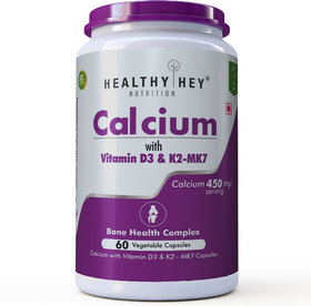 HealthyHey Calcium with D3  K2-7 - Bone Health Complex - 450mg