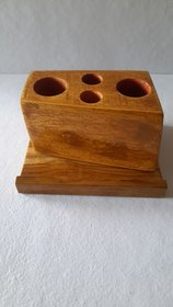 wooden mobile stand and pencil holder