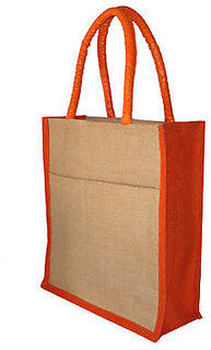 Trendy JUTE BAGS / GIFT / SHOPPING / LUNCH BAGS (SET OF 5, 10x12 inch)