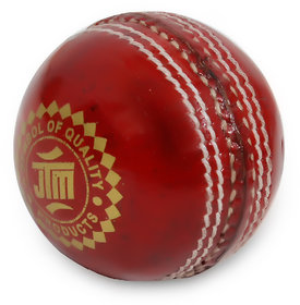 JTM cricket leather ball red colour