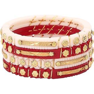 JILL FASHION Gold Plated shakha Pola Bangle Set pack of 2
