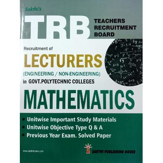 TRB Exam Guide for Recruitment of LECTURERS MATHEMATICS