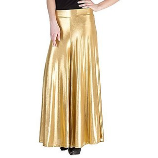 Uner Free Size Golden Shimer Palazzo Pant or Trousers