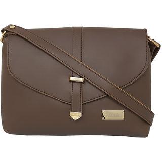 RISH Plain Sling Bag for Women - Tan