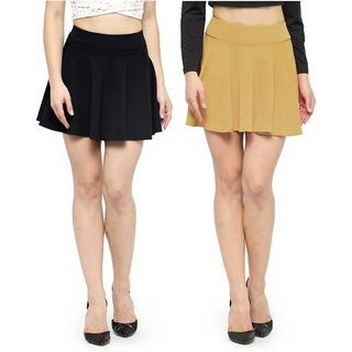 Women Solid Flared Multicolor Skirt