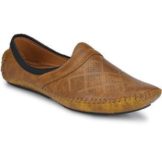 Walkstyle (by EL Paso) Men's Tan Mojaris Designer Slip On Casual Shoes