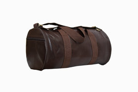 Proera Brown PU Leatherette 20 Ltr Unisex Duffel/Gym Bag
