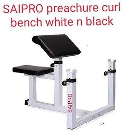 SAIPRO preachure curl bench ,(white)