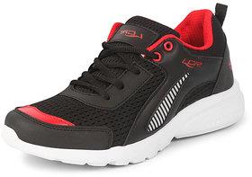 Lancer Men's Black Red Sports Running Shoes
