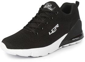 Lancer Men's Black Sports Walking Shoes