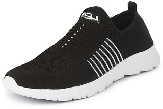 Lancer Men's Black White Sports Walking Shoes