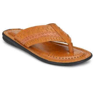Walkstyle (by EL Paso) Men's Tan Thong Sandal Slippers