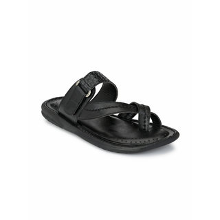 Walkstyle (by EL Paso) Men's Black Thong Sandal Slippers