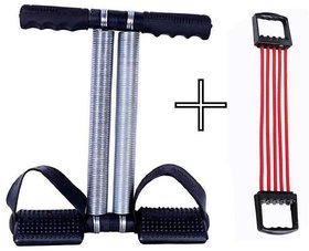 Evergreen Combo Chest Expander With Double Spring Tummy Trimmer For Men Women Home Gym Exercise Equipment