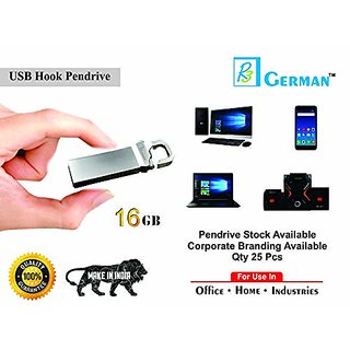 r3 german 16  GB USB 2.0 Metal Hook Flash Drive