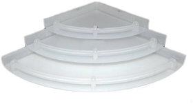 TRENDY Bathroom Corner Shelf Unbreakable Premium Quality 3 Tiers White Corner Set Plastic Bathroom Corner - Pack of 3