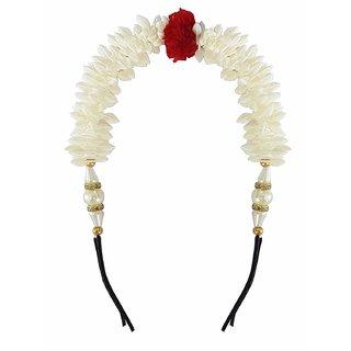 Gulzar   Bun Maker Hair Accessories Hair Gajra, White, 15 Grams, Pack of 1