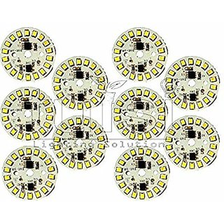 RP 9 W Direct on Board LED Bulb Mcpcb Raw Material (White) - Pack of 10