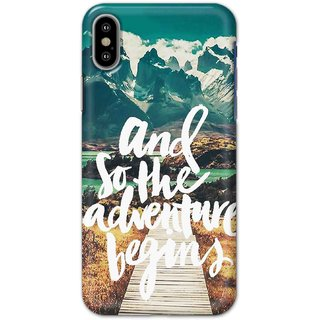 Print Ocean Hard Printed Back Cover For Iphone X