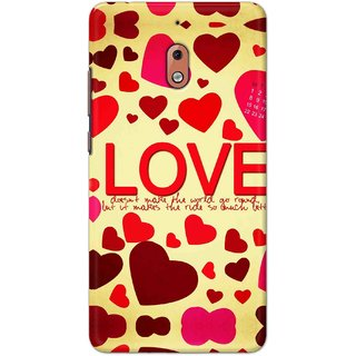 Print Ocean Hard Printed Back Cover For Nokia 2.1