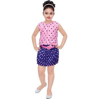 Girls fusion wear pink midi dress