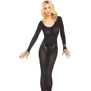 Free Size Lingerie Full Body Stockings Net Halter Fishnet Thigh-Highs Socks Hose - 51 B