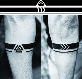 Ordershock Viking Armband Hand Band Men and Women Waterproof Temporary Body Tattoo