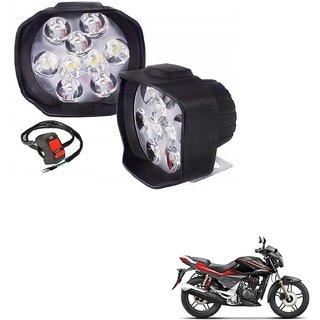 Auto Addict 9 LED Bike LED Fog Light Lamp Assembly 16W Anti-Fog Spot Light Auxiliary Headlight with Switch Set of 2 Pcs For Hero Xtreme Sports