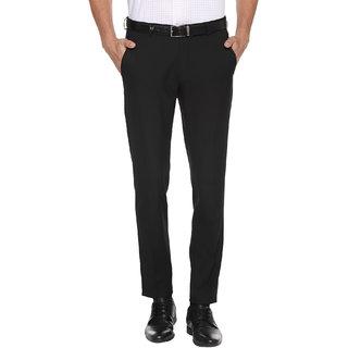 Haoser Mens Formal Black Trousers for Mens    jet black formal trouser for men