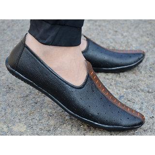 Swazile Men's Black Loafer And Moccasins Shoes