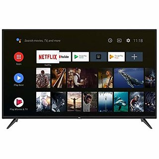 TCL 138.78 cm  55 Inches  Ai 4K UHD Certified Android Smart Led TV 55P8  Black   2019 Model  Televisions
