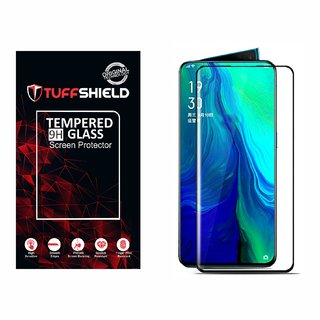 TUFFSHIELD Edge to Edge Tempered Glass Screen Protector for Oppo Reno2 with Installation kit