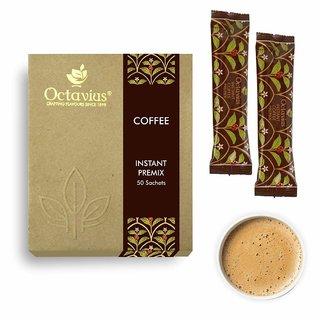 Octavius Instant Coffee Premix Economy Pack - 50 Sachets