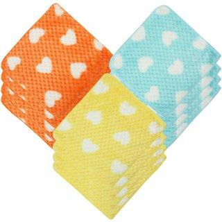Neska Moda Women's Pack of 12 Cotton Fur Handkerchiefs-H84